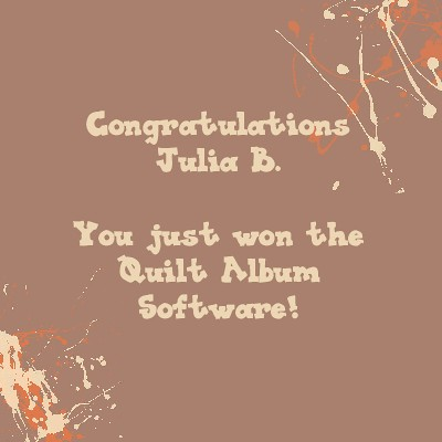 Winner of the Quilt Album Software | by Jenniffier