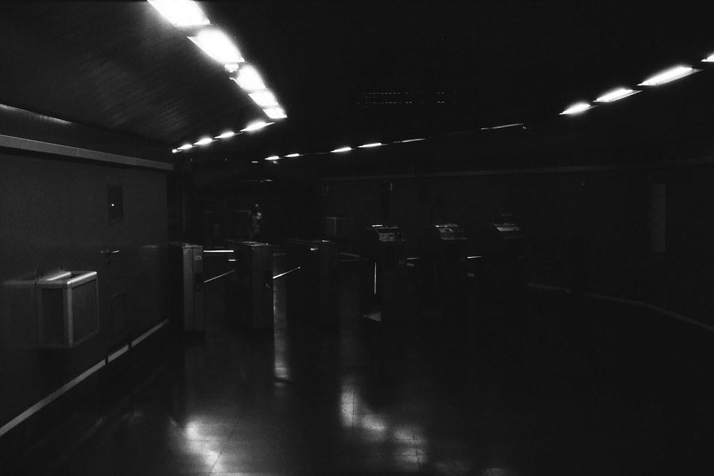 Madrid. Para de Metro.