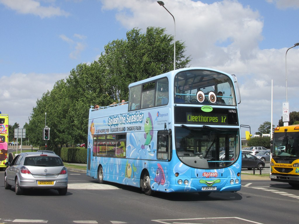 ... Stagecoach Grimsby Cleethorpes 16965 YJ04FZF 'Splash' Kings Rd,  Cleethorpes on 17 (2