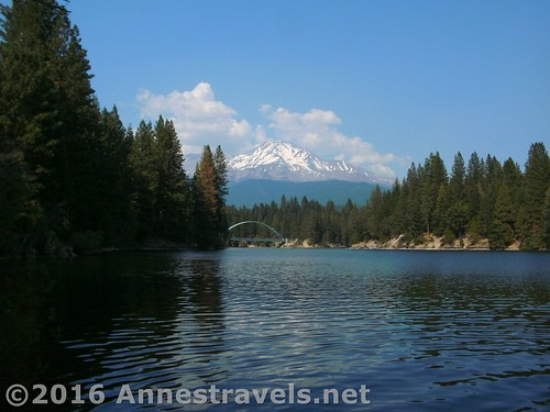 Mt. Shasta over Siskayou Lake, California
