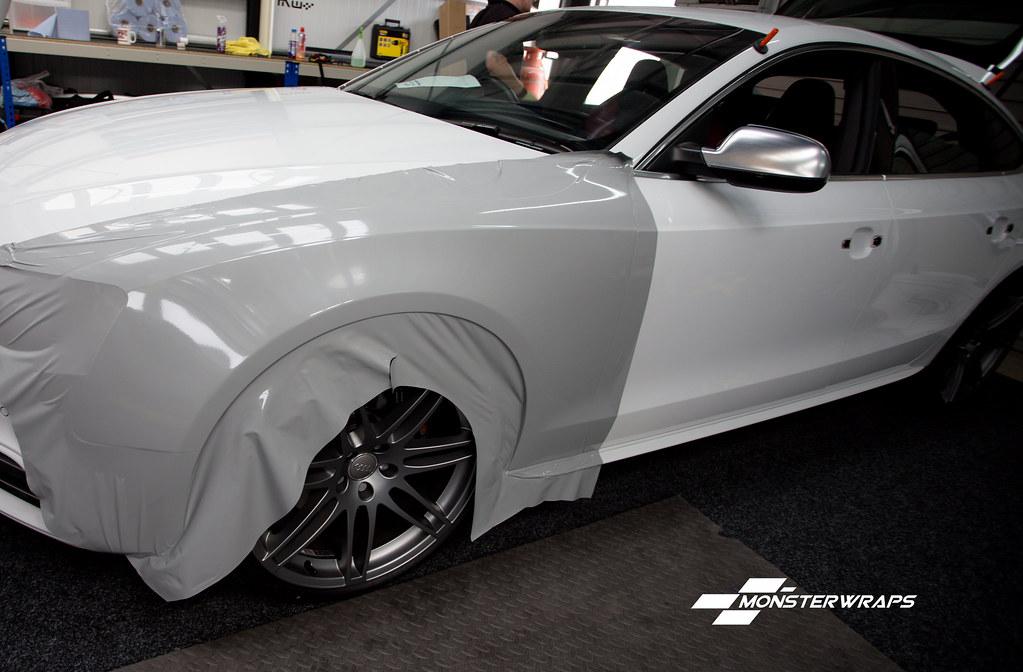 Audi S5 Gloss Nardo Grey Ceramic Pro Wrap Audi S5 Gloss