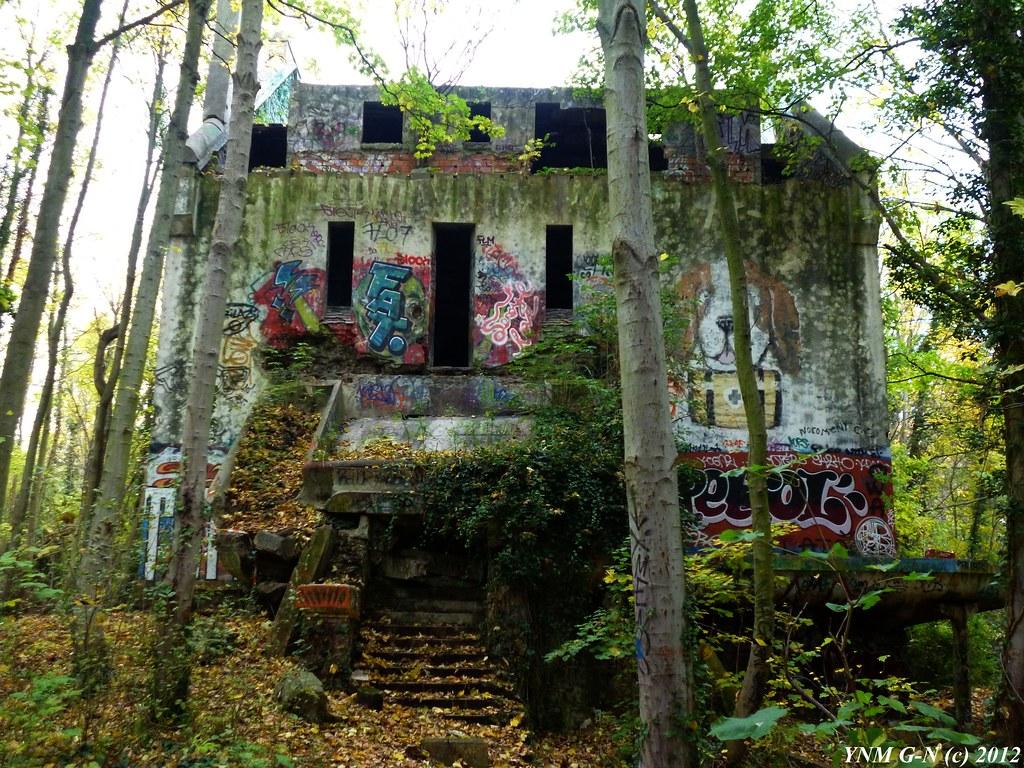 Hotel restaurant dancing guinguette art deco en ruine bo for Achat maison bois le roi