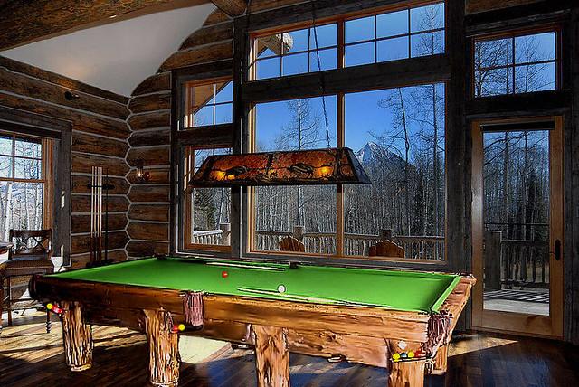 lumber_jack_log_cabin_rustic_pool_table_wilderness 05y7 billiard rustic  sign  table  table reserved