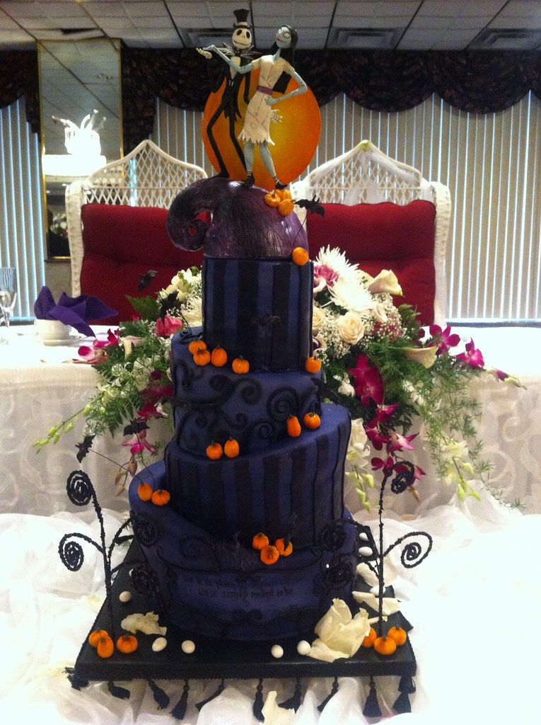 nightmare before christmas wedding cake by rock candy cakes ny