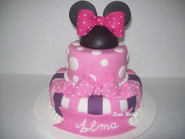 Tortas para primer año Minnie - Imagui