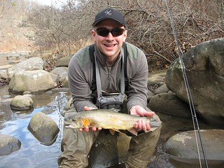 Photo of Man with a nice sized brown trout