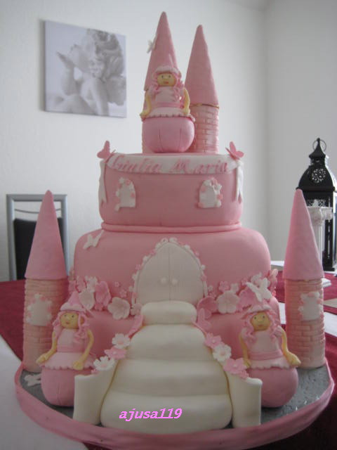 Torte Schlo 223 Zur Taufe Christening Castle Cake Flickr