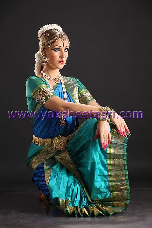 how to wear a bharatanatyam dance dress