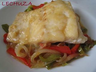 Bacalao con verduras 7 cocina con buho flickr - Bacalao con garbanzos y patatas ...