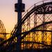 Coney Island at sunset