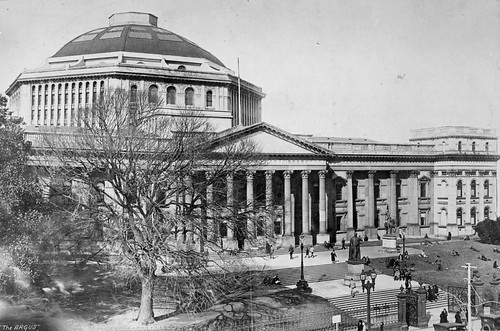 The State Library of Victoria, including portico and forecourt | by State Library Victoria Collections