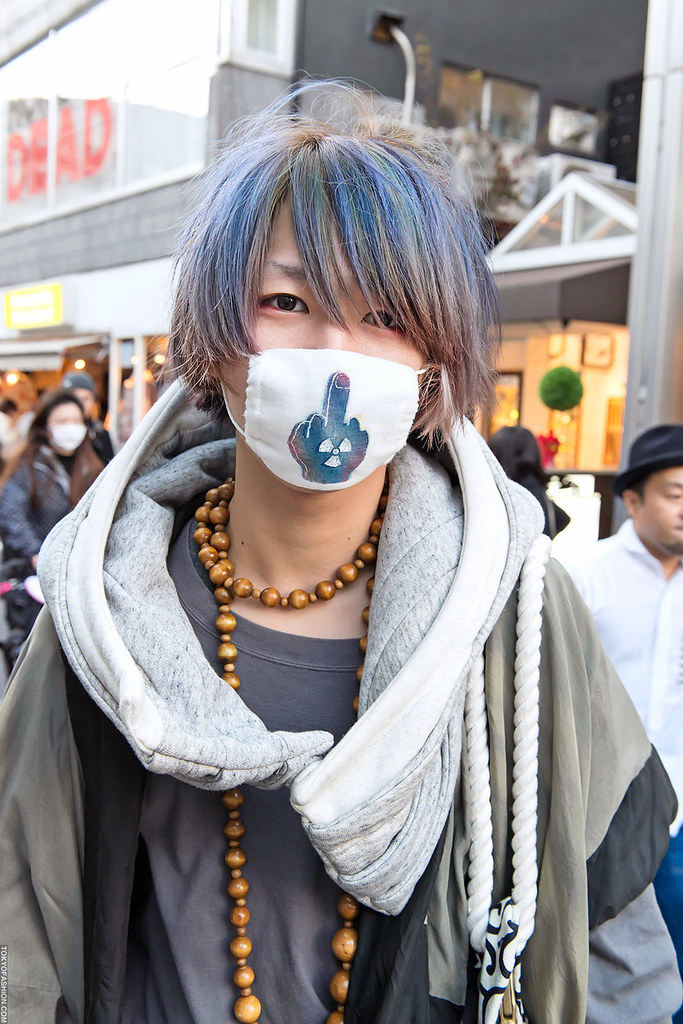 Blue green hair in harajuku cool guy who i ran into in har flickr Japanese fashion style icon