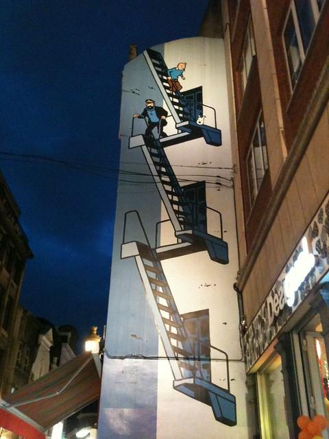 Tintin, Haddock et Milou à Bruxelles