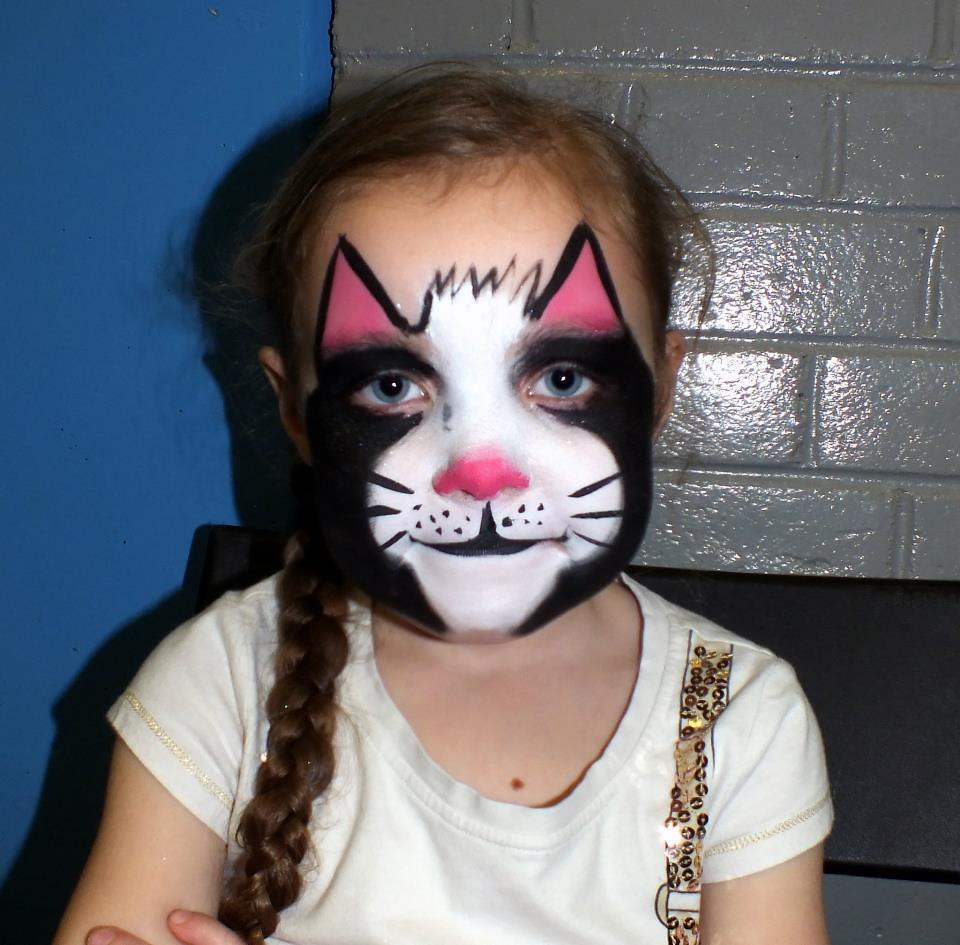 Uncategorized Cat Paint Face black cat face painting some of the faces i have painted flickr by dermot h