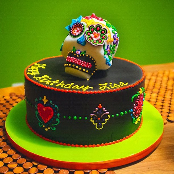 Dia De Los Muertos Birthday Cake Photo By The Goodness Ha Flickr