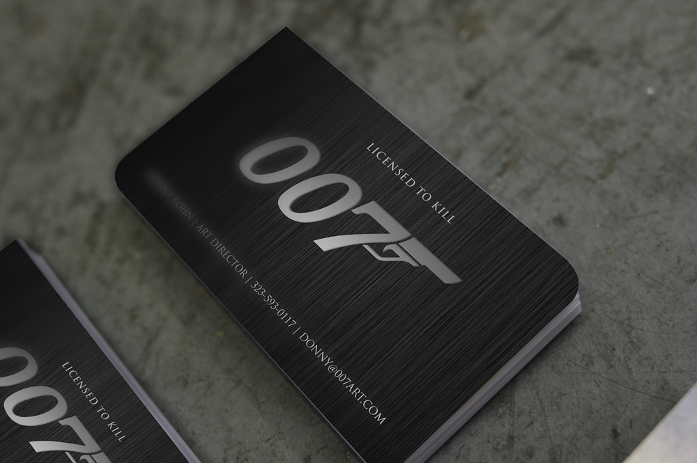 007 Business Cards | Some business cards inspired by James B ...