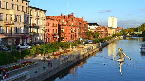 Bydgoszcz Poland  City new picture : ... the tightrope across Stary Port, Bydgoszcz Poland | by Flitshans