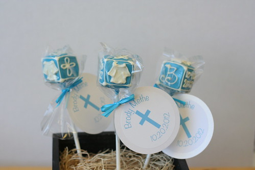 Baby Block Cake Pops with Custom Tags | by Sweet Lauren Cakes