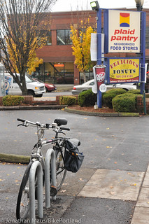 New bike racks at Plaid Pantry-4 | by BikePortland.org