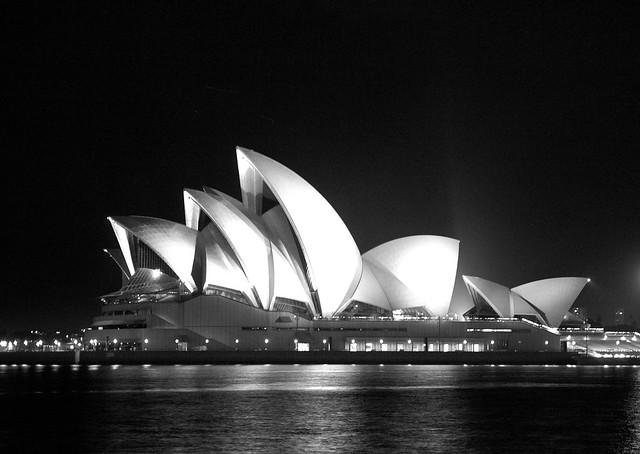 8234959138 7cfa372b82 z - 40+ Black And White Pictures Of Sydney Opera House  Background