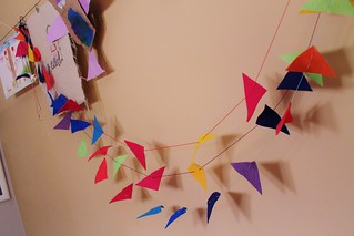 felt shapes garland | by imaginegnats