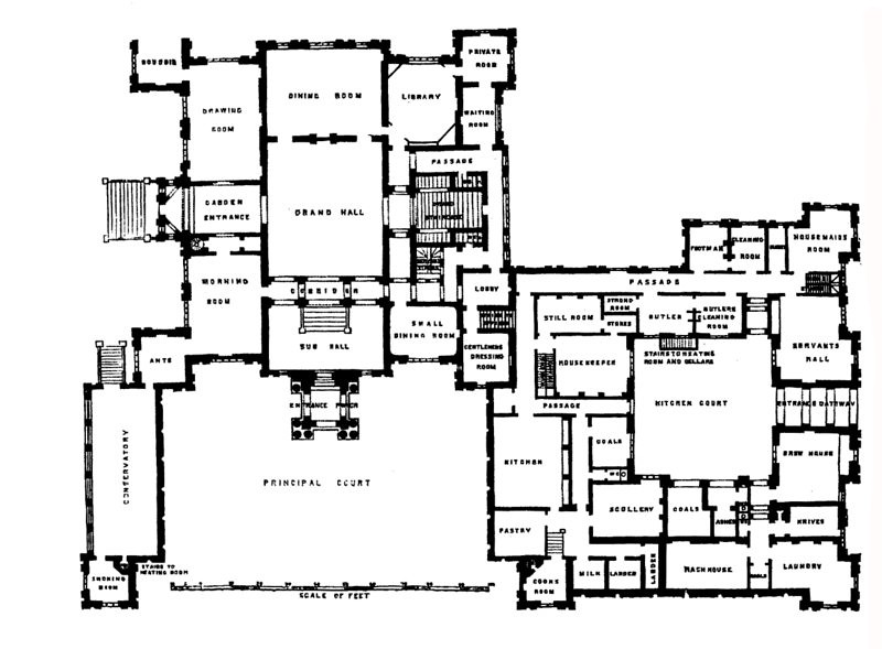 Doc110 13729 plan of mentmore towers buckinghamshire 1 for House plans with towers