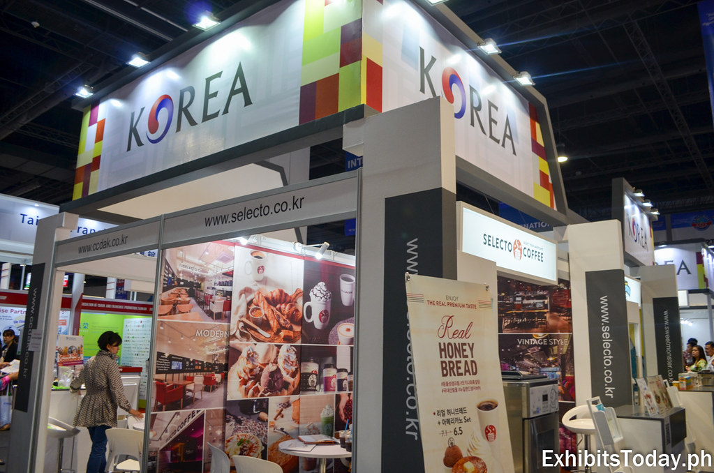 Front of Korea Tourism Organization Trade Show Display