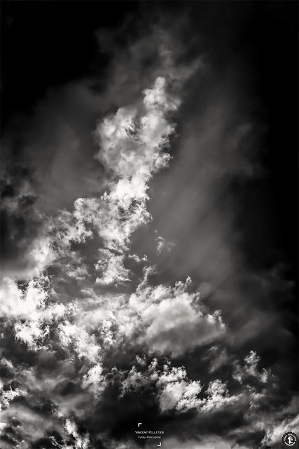Black and white cloud light