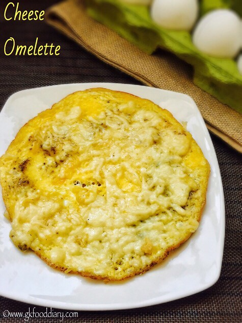 Cheese Omelette Recipe for Babies, Toddlers and Kids3