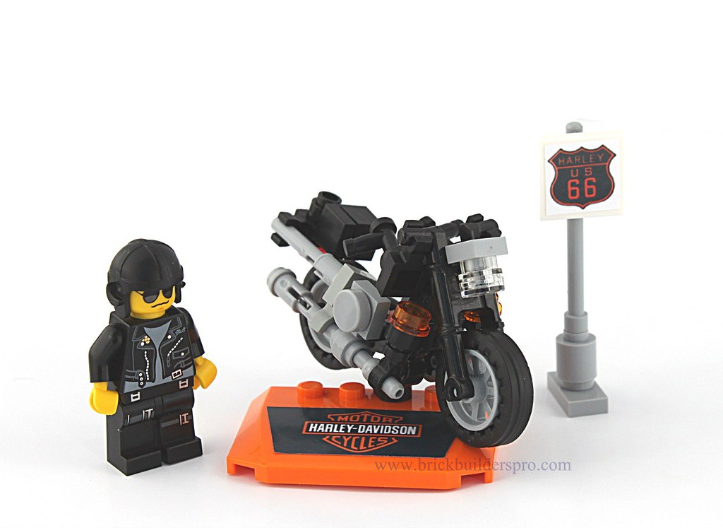 Lego Harley Davidson Custom Quot Fatboy Quot Motorcycle Mean
