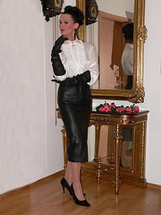 Leather skirt and blouse 1 | jerry wilkinson | Flickr