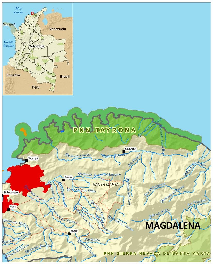 Parque Nacional Tayrona Map