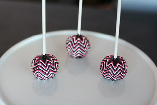 Another take on Chevron Cake Pops | by Sweet Lauren Cakes