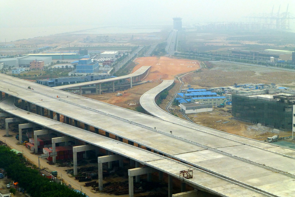Ic Free Shipping >> New airport highway construction Shenzhen China   It's ...