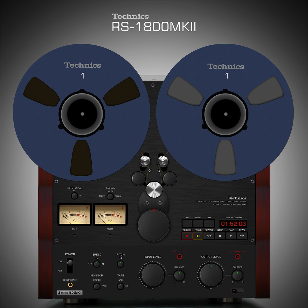 Technics RS-1800MKII Reel to Reel Render | Here is my rendit ...