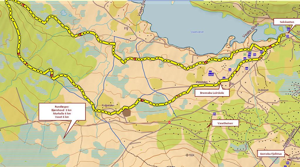 kart vaset Kart 10 km Vaset tidligløype | Kjell Arne Berntsen | Flickr kart vaset
