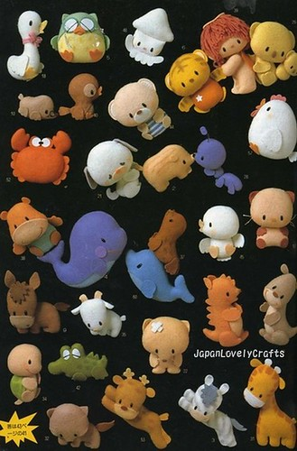 Hand Sewn Animal Mascot Japanese Sewing Pattern Book For