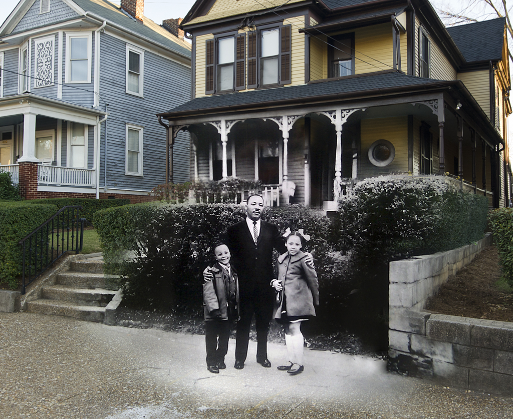 Martin Luther King Jr Birth Home Then Now Martin Luthe Flickr