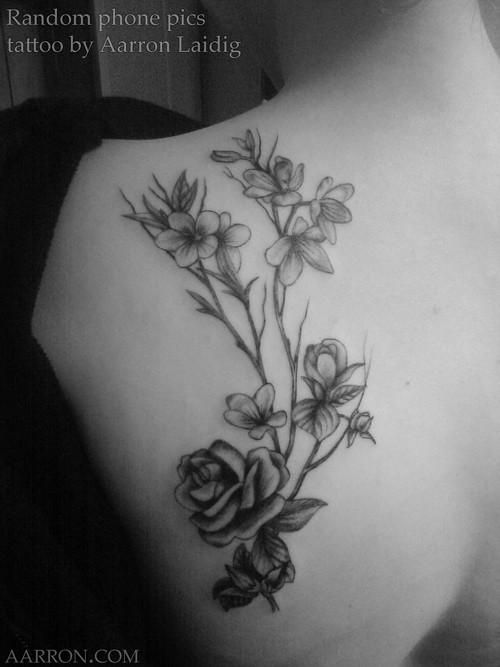 Pretty blackwork flowers tattoo floral tattoo artistic flow flickr pretty blackwork flowers tattoo by artistic flow mightylinksfo