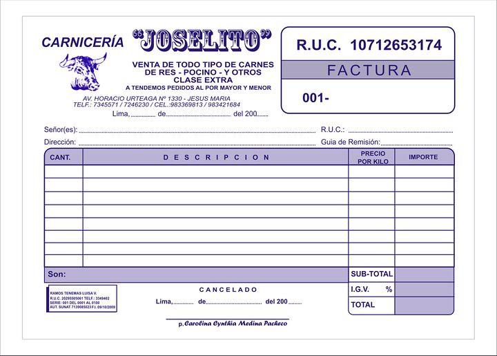 factura urgentes a domicilio delivery lima peru