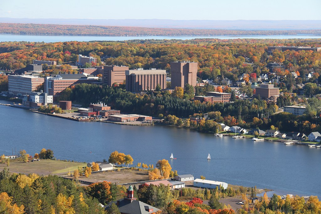 Michigan Tech Campus View in Fall Colors | Michigan Tech ...