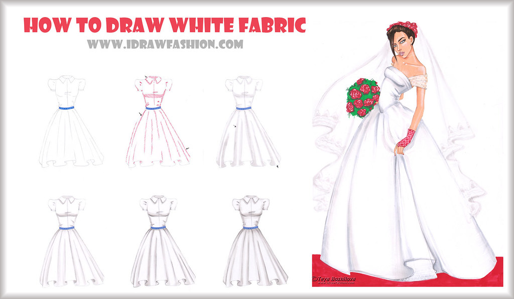 how to draw white fabric step by step learn how to draw