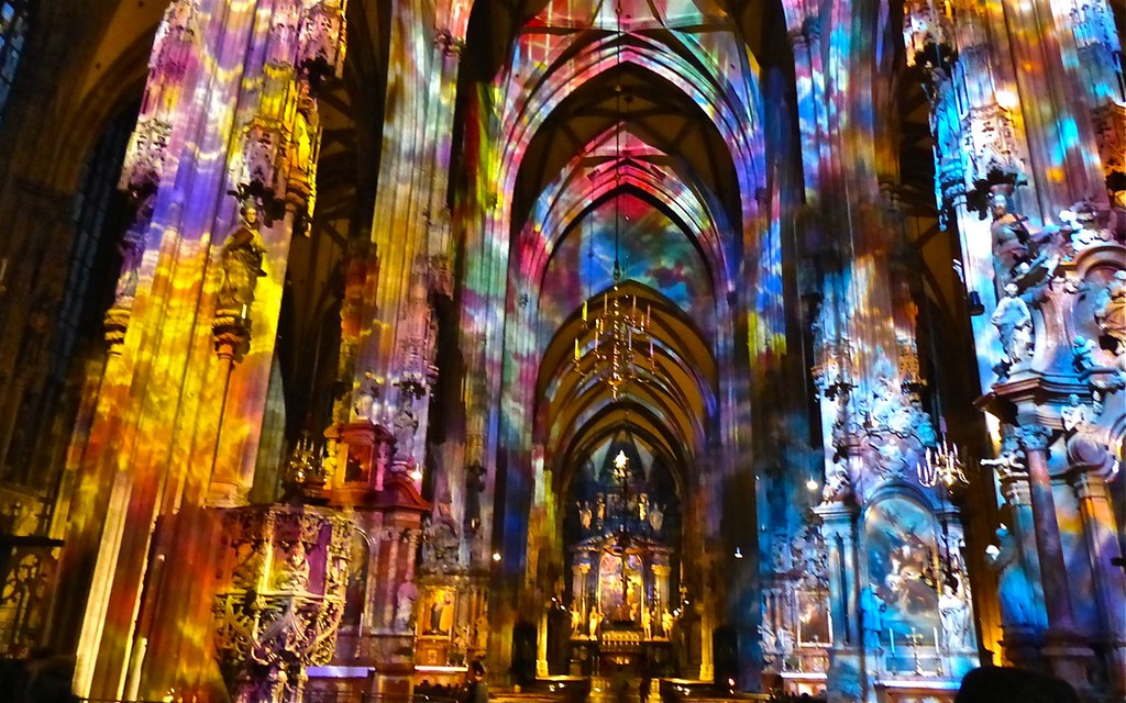 Light Show St Stephen S Cathedral Vienna 169 Sekitar