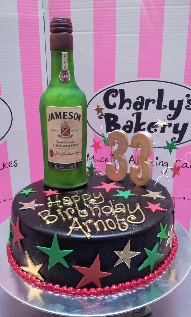 Liquor Bottle Cake Decorations Magnificent Wicked Chocolate Cake Iced In Black Chocolate Icing Decor…  Flickr Design Ideas