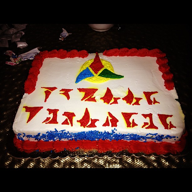 klingon happy birthday My cake surprise from last night (happy birthday in Klingo… | Flickr klingon happy birthday