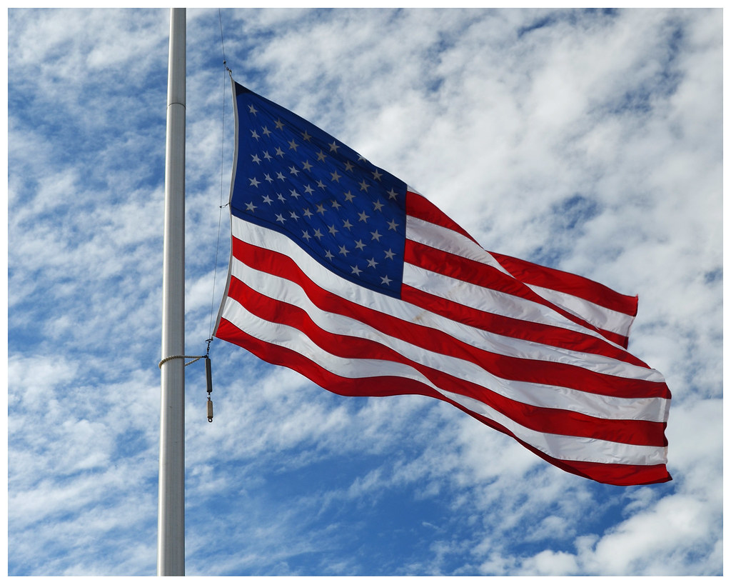 THE Red, White & Blue | American flag at half mast today ...