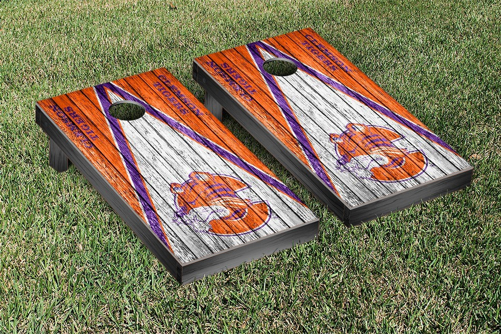 Clemson Tigers College Vault Triangle Weathered Version