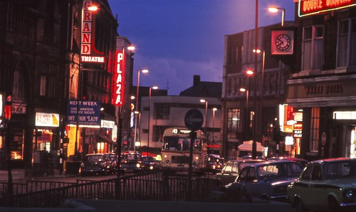 Leeds In The 1970s Night Time 1 Theatreland Upper