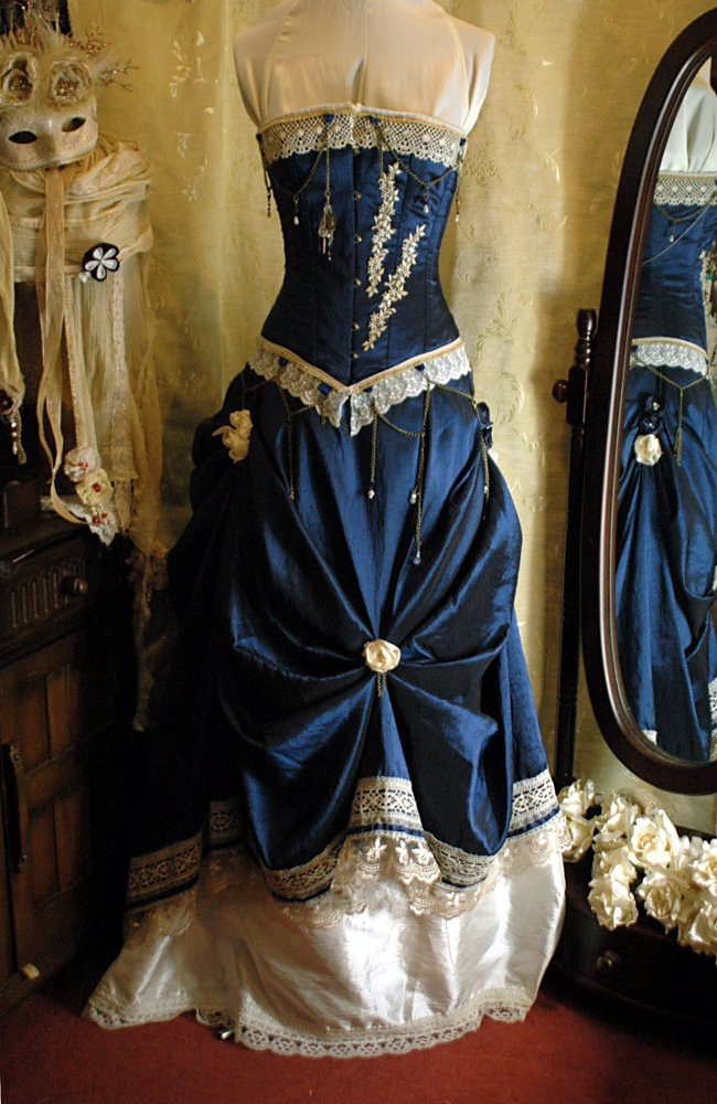 blue steampunk wedding dress susan gillard flickr