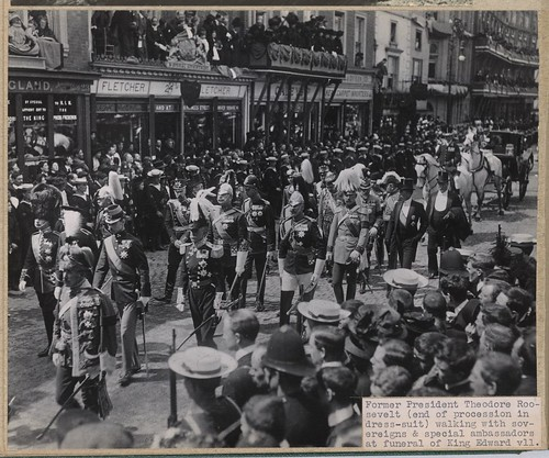 King Edward Hotel TR marches in King Edward VII funeral procession May 20 1910 Library of Congress | by richardschave